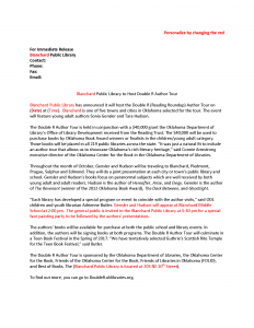 press release word template