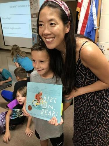 A fan of the book and author, Cynthea Liu